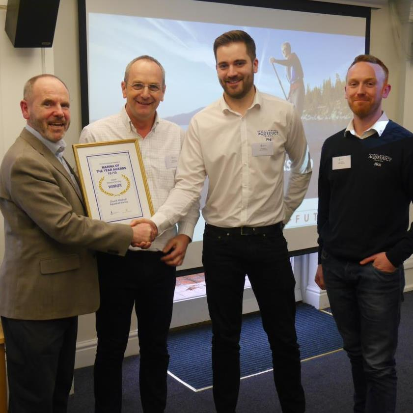 Aqueduct Marina awarded Inland Marina of the Year 2018/19